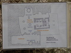Aubterre  - monolithic church, plan - Photo of Saint-Avit
