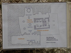 Aubterre  - monolithic church, plan - Photo of Montboyer