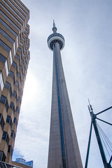 CN Tower with Sky and Bulding
