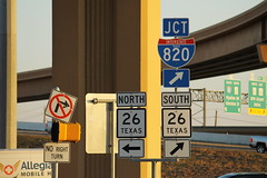 TX26 and I-820 Signs