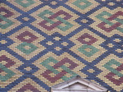 Patterned roof of Hôtel Aubriot