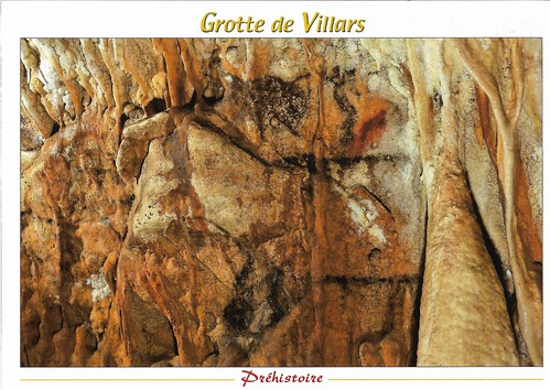 grotte de villars cave painting, rock formation and drawn horse