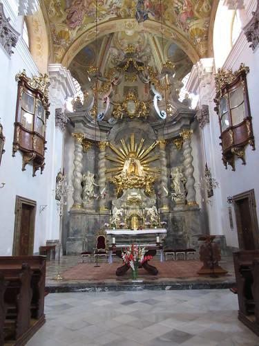 Inside Mariatrost Basilica