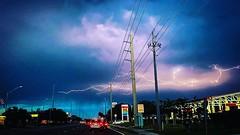 Lightning over Bradenton taken by my daughter, pp by me.