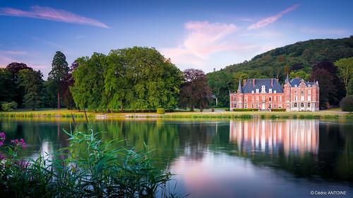 Château de Dave (Namur) à l'heure bleue