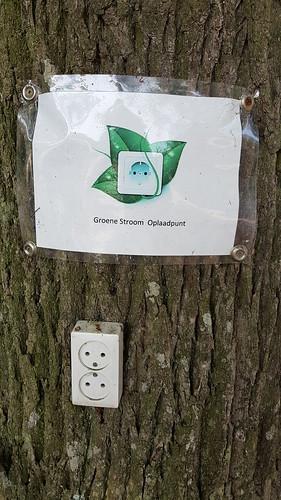 Groene stroom oplaadpunt