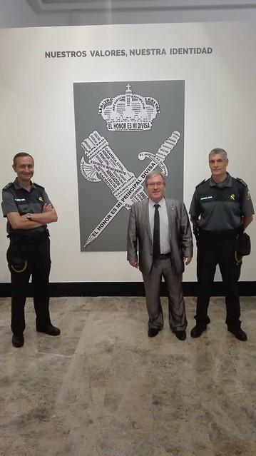 Visita a la Comandancia de la Guardia Civil con motivo de su 175 aniversario