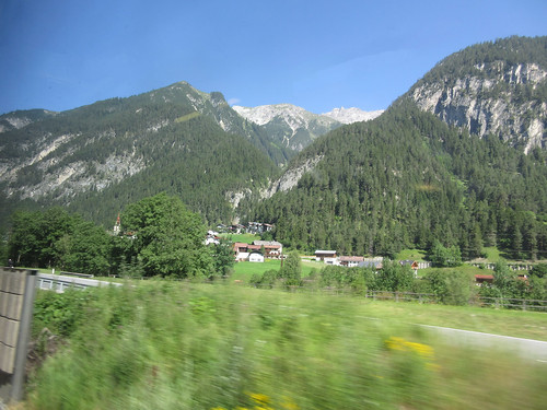 View of the Alps from the train