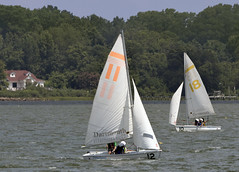 sailboat racing -  Mill Creek Hampton Virginia