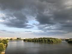 Theodore Roosevelt Island, Potomac River from Key Bridge, Washington, D.C.