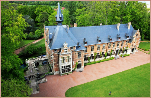 Château de Grand-Bigard du donjon, Dilbeek, Brabant flamand, Belgium