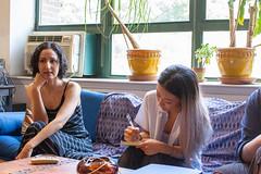 Artist Mariam Ghani in her Brooklyn studio