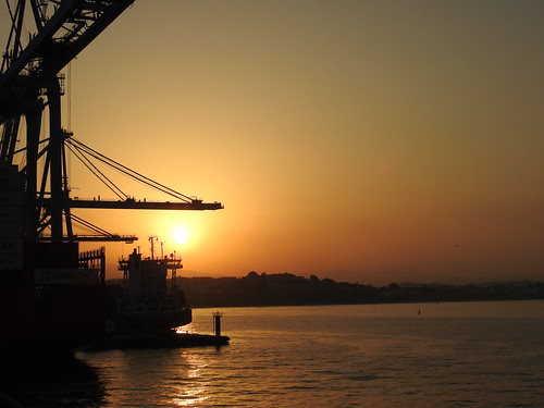 Sunset in Algeciras Port - Spain