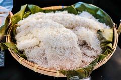 White cuchinta covered in shredded coconut