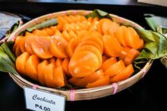 Tasty cuhcinta snack placed on basket