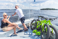 Cyclists on cruise boat