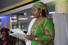 DSC_3397 The First Lady of Nigeria, Her Excellency Aisha Buhari opening the Awards Gala Dinner at the African Ambassadors & Diaspora Interactive Form AAIF United Nations buildings International Maritime Organisation HQ IMO London