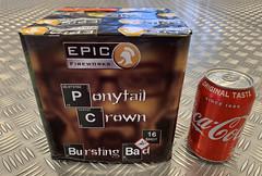 Ponytail Crown 16 Shot cake by Epic Fireworks