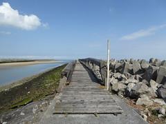 Gravelines estuaire de l'Aa vers la Mer du Nord