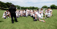 SCARBOROUGH THUNDER FOOTBALL CLUB (JR) vs PETERBOROUGH WOLVERINES PLAYOFF, JULY 27 2019, BIRCHMOUNT STADIUM, ACA PHOTO