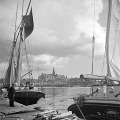 Sailing ships at Strandvägen quay in Stockholm, Uppland, Sweden