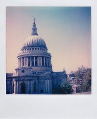 Polaroid of St Paul's Cathedral, London.