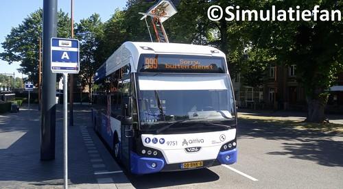 Arriva E-Citea on train/bus station Valkenburg