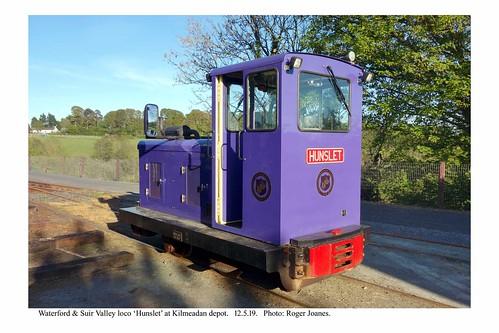 Kilmeadan. Waterford & Suir Valley Hunslet loco. 12.5.19