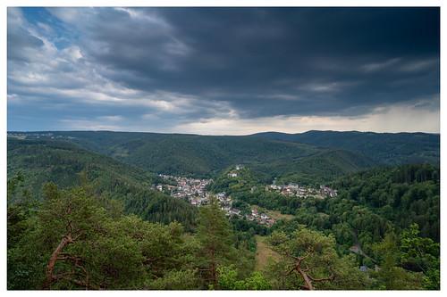 Blick vom Trippstein auf Schwarzburg