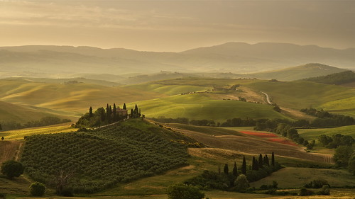 Sunrise at San Quirico d'Orcia