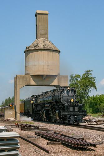 UP No. 4014 Under the Clyman Jct. Coaling Tower
