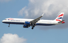 EGLL - Airbus A321-251N - British Airways - G-NEOT