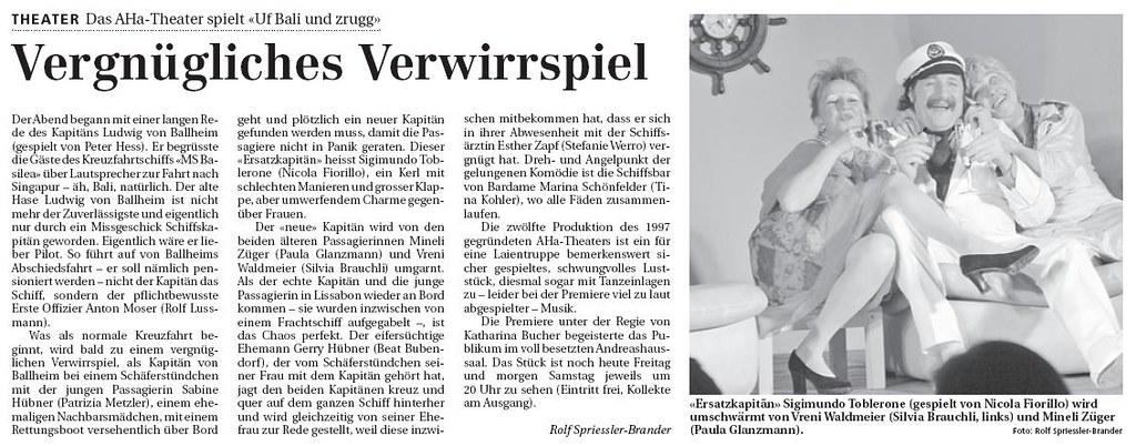 2009 - Uf Bali und zrugg (Bernd Spehling)