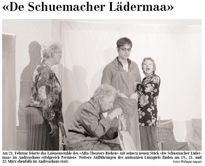 2003 - De Schuehmacher Lädermaa (Josef Brun)