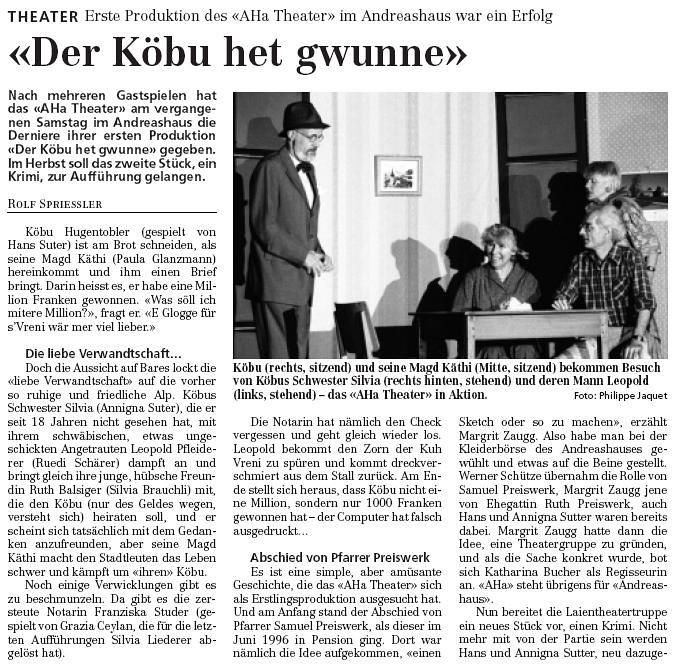 1997/1998 - Dr Köbu het gwunne (Carmelo Pesenti)