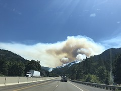 Milepost 97 Fire from Canyonville July 25, 2019