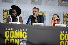 Danai Gurira, Jeffrey Dean Morgan & Cailey Fleming