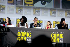 Angela Kang, Danai Gurira, Jeffrey Dean Morgan, Cailey Fleming & Norman Reedus