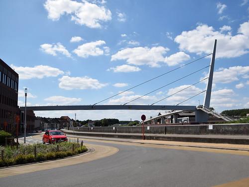 Fiets en voetgangersbrug over de Schelde