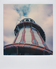 Polaroid of a Helter-skelter on Clacton Pier