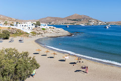 """""""Piperi Beach"""" Strand am Mittelmeer, in Naoussa auf Paros, Griechenland"""