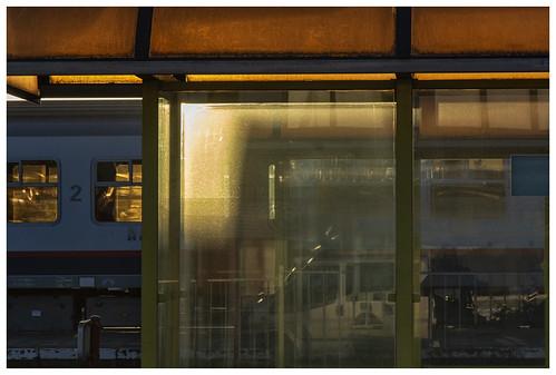 Zottegem station - ochtendlicht