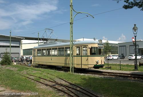 Tram 437 at Historama