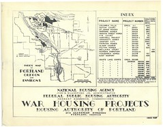 Index map of Portland, Oregon's war housing projects