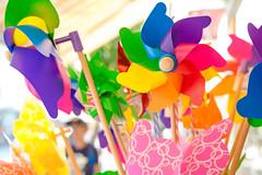 Child's plastic windmill toys