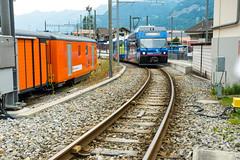 Swiss blue train