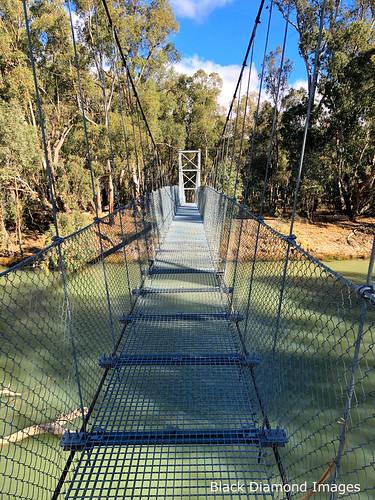 Court Street Pedestrian Suspension Bridge over the Murrumbidgee River, Balranald, South West, NSW