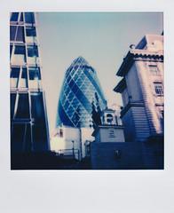 Polaroid of 30 St Mary Axe (The Gherkin) in London