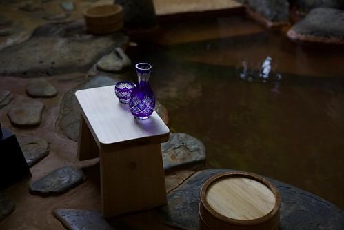 Sake and hot spring
