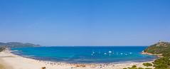 Panoramic view of the Tyrrhenian Sea, Sardinia, Italy